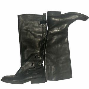 Guess Knee high leather boots Black Leather